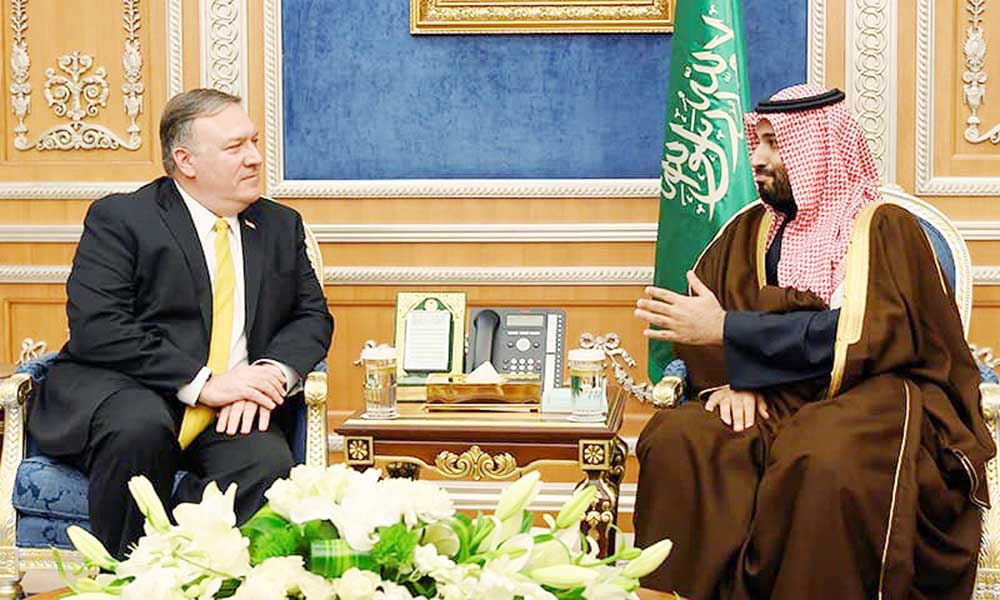 Pompeo meets King Salman, MBS in Riyadh