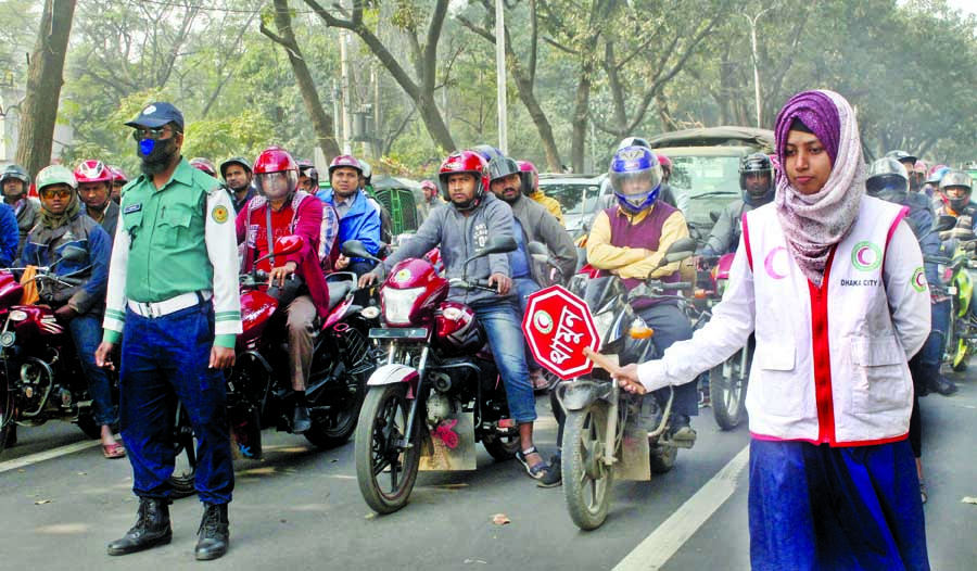 Traffic discipline initiatives in city