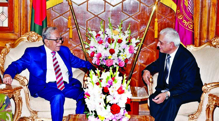 Outgoing Nepalese envoy meets President