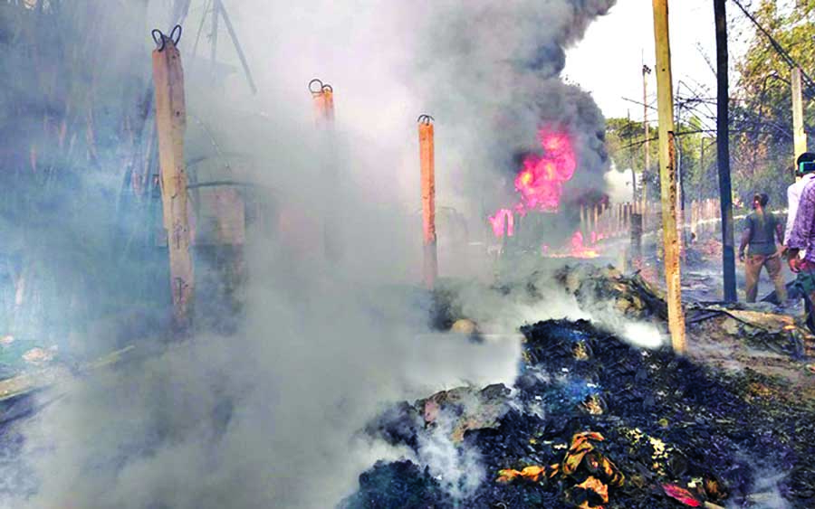 Ctg oil depot gutted