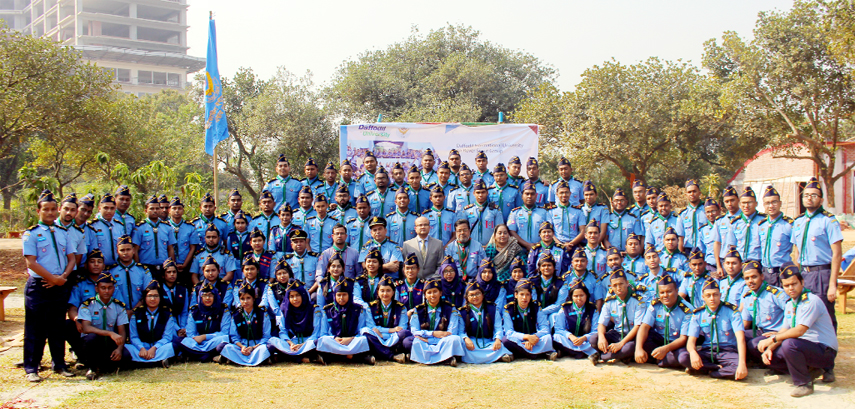 DIU newly enrolled rovers take oath