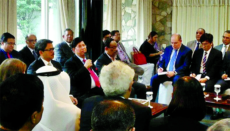 Foreign Minister Dr Abdul Momen briefing diplomats stationed in Dhaka at the State Guest House Padma to share the future plan of Bangladesh on Thursday.