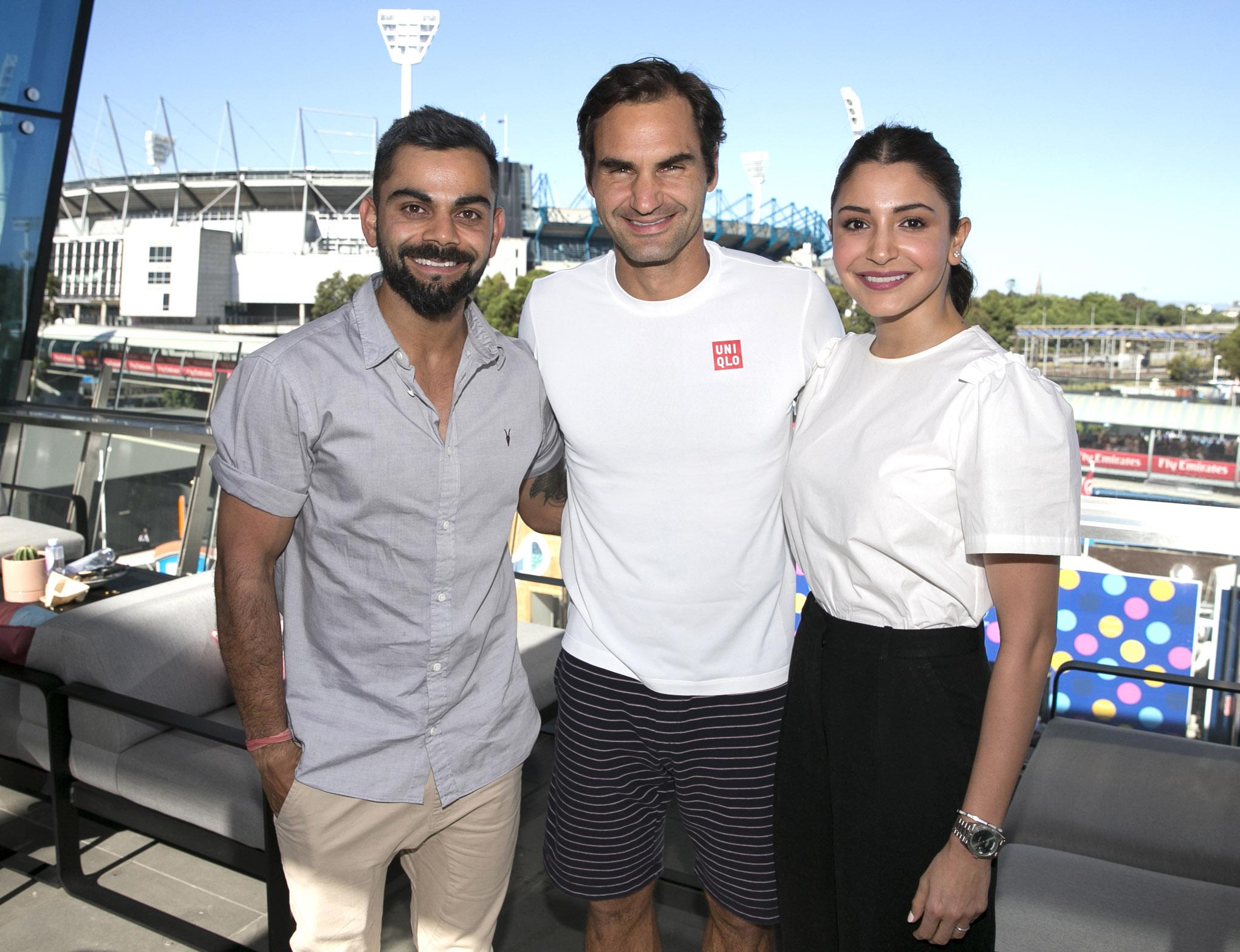 Virat Kohli attends Australian Open, posts  picture with Roger Federer