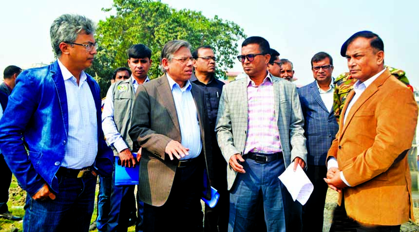 State Minister  for Water Resources Zaheed  Farooque  and Deputy Minister AKM Enamul Haque  Shameem visited newly-built Garanchatbari Pump House yesterday. This pump was built under Dhaka Integrated Flood Protection Project  of Bangladesh Water Development Board  for  removing of waterlogging  from Dhaka city .