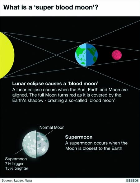 Skywatchers await 'super blood wolf moon'