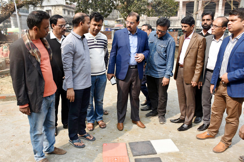 CCC Mayor AJM Nasir Uddin  visiting renovation work of Theatre Institute at the Port City on Saturday.