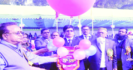 RANGPUR: Muhammad Joynul Bari, Divisional Commissioner inaugurating the 48th Regional School Madrasa and Vocational Education Winter Games and Sports Competition as Chief Guest at Rangpur Zilla School ground on Sunday.