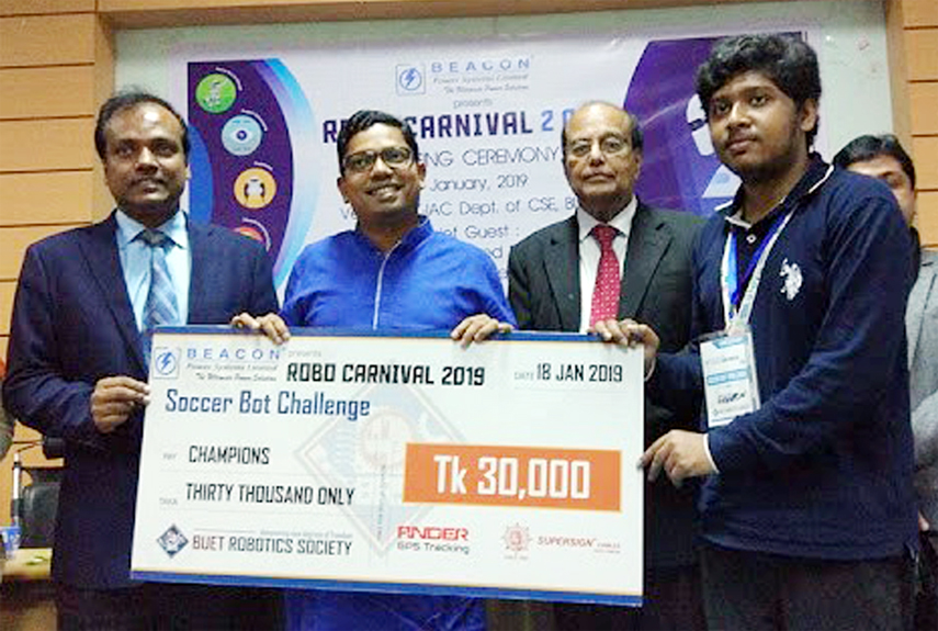 DIU becomes champion in BUET Robo Carnival