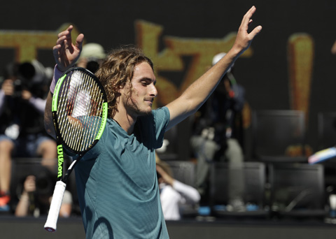 Greek sensation Tsitsipas into first Slam semi-final