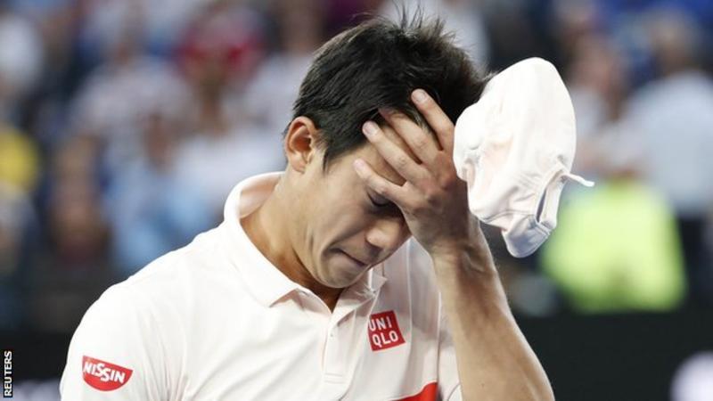 Novak Djokovic into Australian Open semi-finals after Kei Nishikori retires