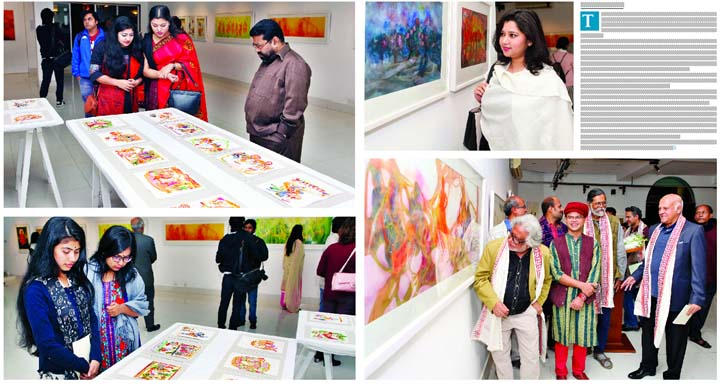 Group painting exhibition at Alliance Francaise de Dhaka