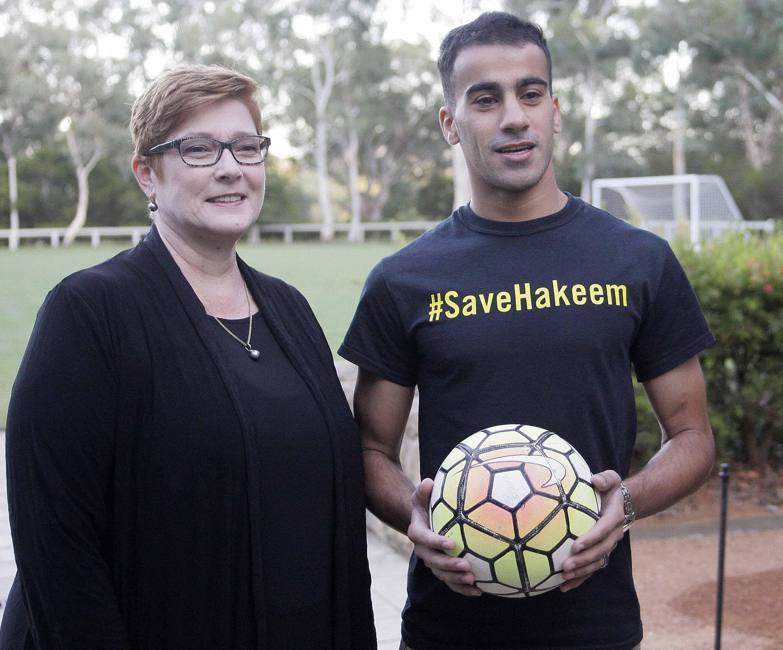 Refugee footballer thanks Australian leader for freedom