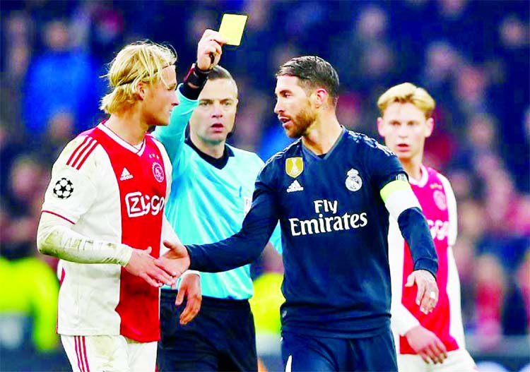 UEFA investigate after Ramos says he got booked on purpose