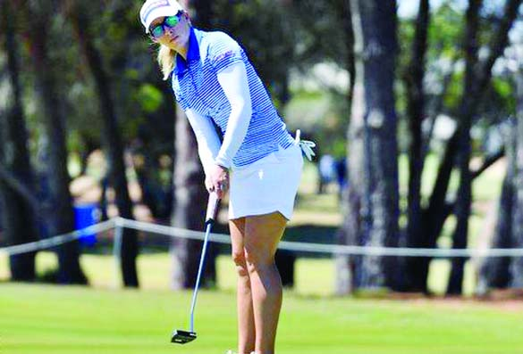 England\'s Jodi Ewart Shadoff four shots off lead