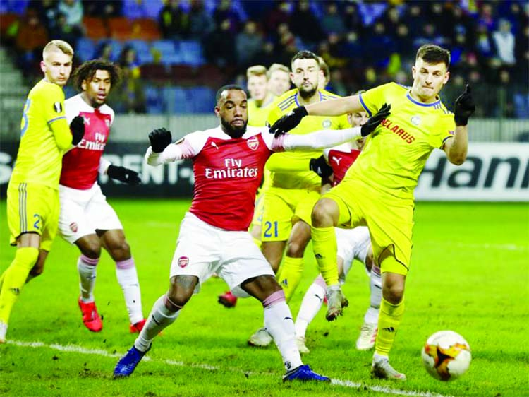Arsenal stunned by Borisov in Europa League