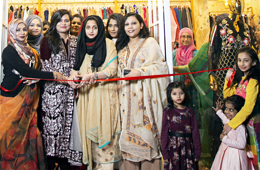 Airin Huq Ivey, Owner Kayaraa fashion houses  inaugurating the third    show room of the fashion houses in Port City  on Friday.