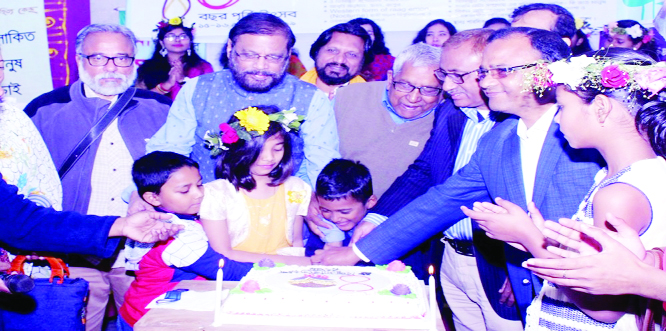 BANCHHARAMPUR (Brahmanbaria):  A cake cutting ceremony was held marking the 27th  founding anniversary of the Daily Bhorer Kagoj at Banchharampur Upazila on Friday .