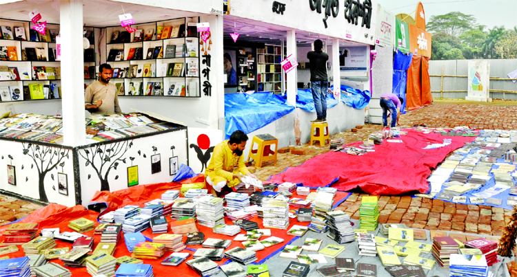 Heavy rain damages stalls and books