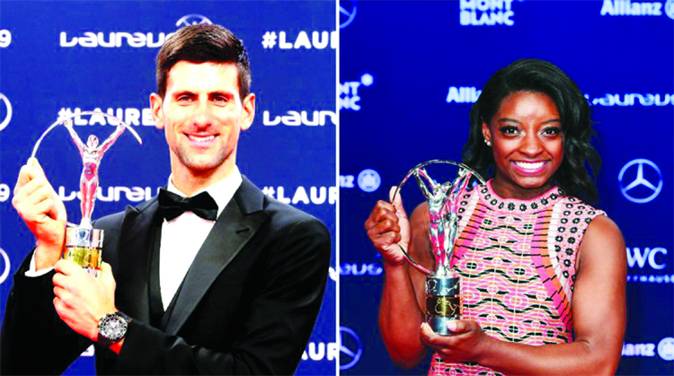 Djokovic and Biles win Laureus Sportsman of theYear Awards