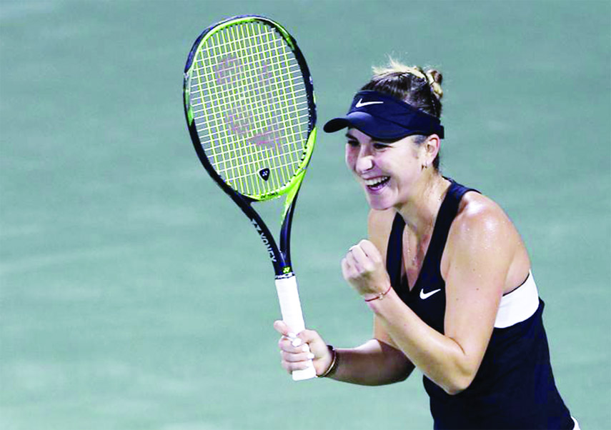 Bencic upsets Halep to reach Dubai semifinals, Kvitova wins
