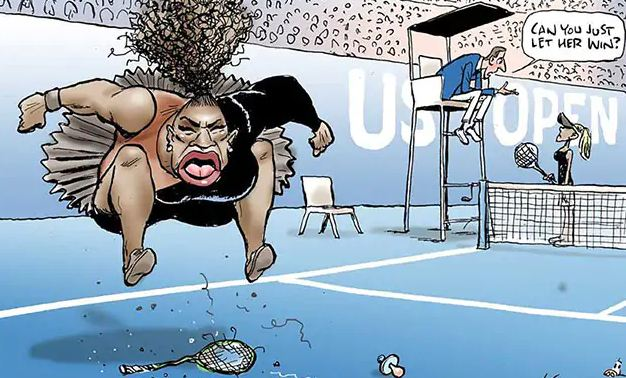 'Racist' Serena Williams cartoon given Australian all-clear