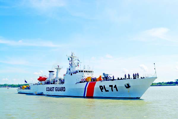 A ship of Bangladesh Coastguard 'BCGS Syed Nazrul' left for welcome visit to Malaysia, India and Thailand from Patenga, Chattogram on Monday.