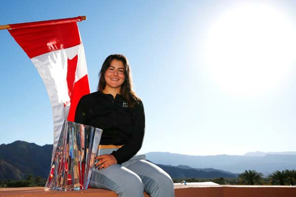 Andreescu arrives with unlikely Indian Wells triumph