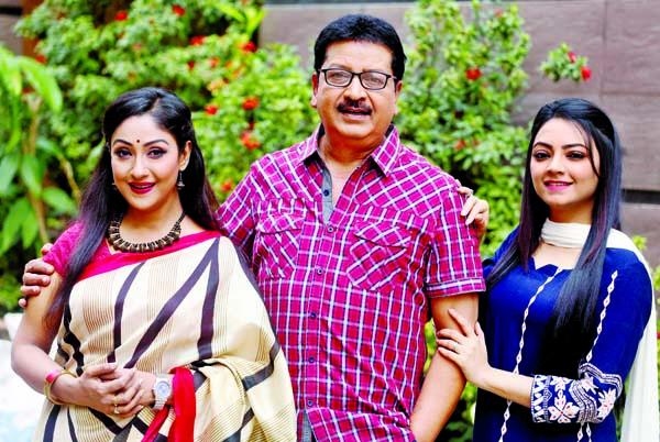 Chhonda, Manosh, Ishana in BTV serial Japito Jibon