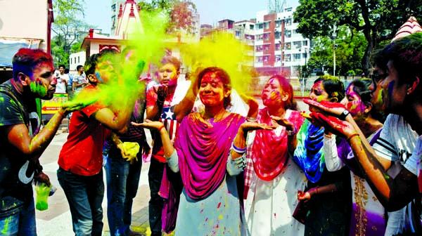 Holi festival celebrated with enthusiasm, fanfare