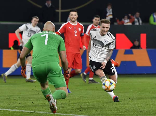 Germany salvage 1-1 draw with Serbia in friendly