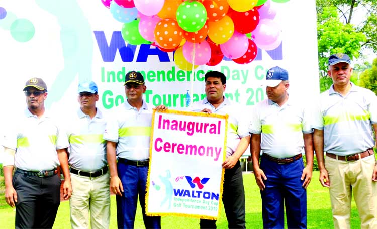 Station Commander of Savar Cantonment Brigadier General Mashiur Rahman inaugurating the 6th Walton Cup Golf Tournament by releasing the balloons as the chief guest at Savar Golf Club on Friday.