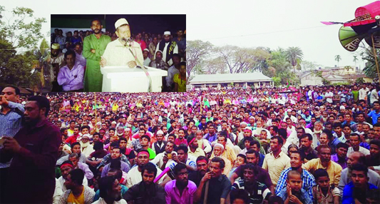 JHENAIGATI (Sherpur): Jhenaigati Upazila Awami League President  SM  Abdullahel  Warez Nayem, Upazila Chairman candidate speaking at an election campaign on Friday night marking the upcoming fifth Upazila Parishad election today.