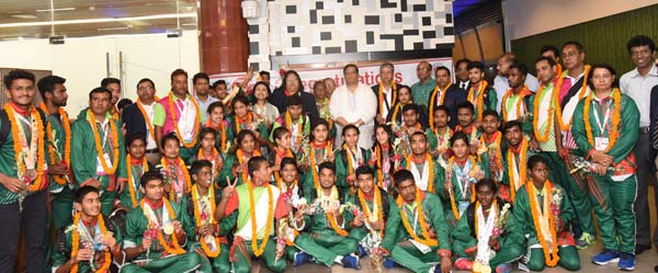 State Minister for Youth and Sports hails Special Olympic team