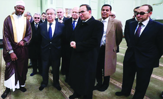 UN Chief visits NY mosque, urges safety for worshippers