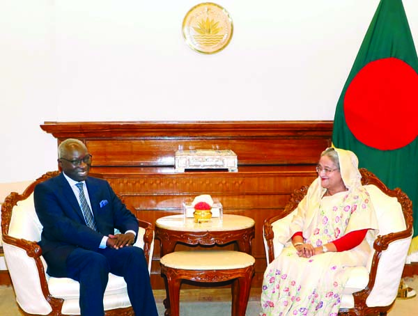 Adama Dieng, UN Under Secretary General and Special Advisor on Prevention of Genocide called on Prime Minister Sheikh Hasina at her office on Sunday.