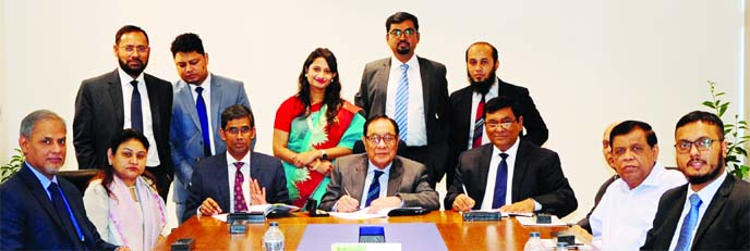 A Rouf Chowdhury, Chairman of Bank Asia Securities Ltd, a majority-owned subsidiary of Bank Asia, signed the Company's Audited Financial Statement for the year ended on December 31, 2018 prior to the company's 8th Annual General Meeting held at Bank Asia Tower, Kawran Bazar in the city recently.