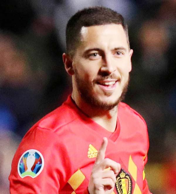 Hazard scores in 100th game as Belgium beat Cyprus