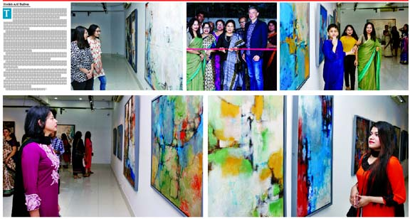 Brishty's solo exhibition A way to break beyond