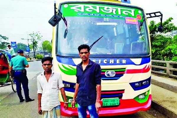 Driver, helper arrested