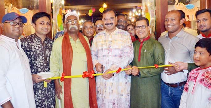 CCC Mayor A J M Nasir Uddin  and Ali Abbas , President, Chattogram Press Club inaugurating Press Café at  Port City on Sunday.
