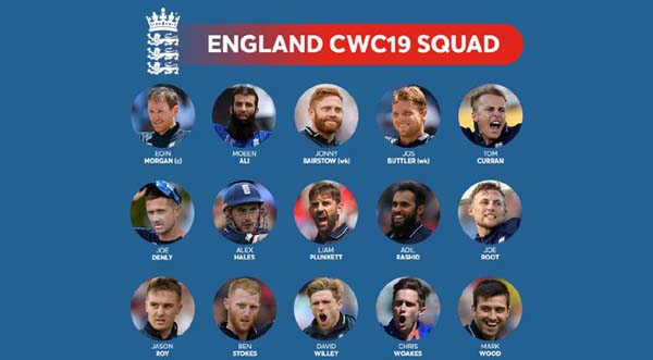 England announces World Cup squad, Archer out