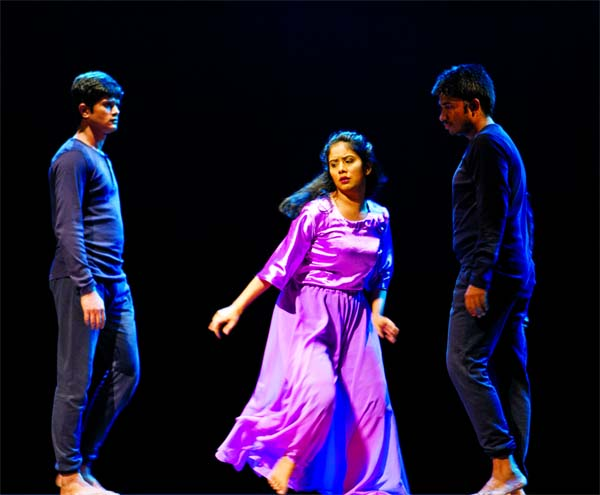 An evening of contemporary dance at Shilpakala Academy