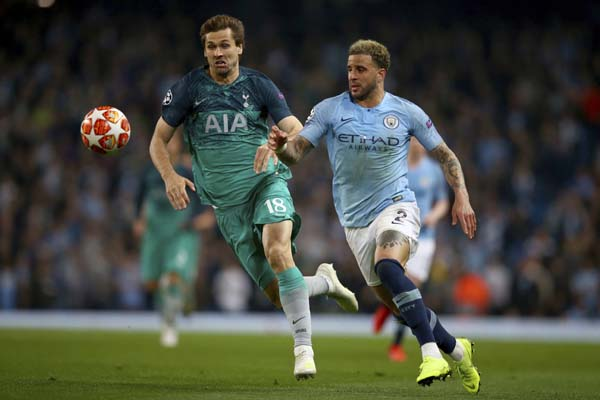 Tottenham stun Man City to reach Champions League semis