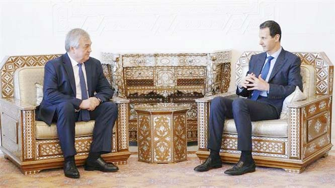 Assad calls for progress in stalled talks