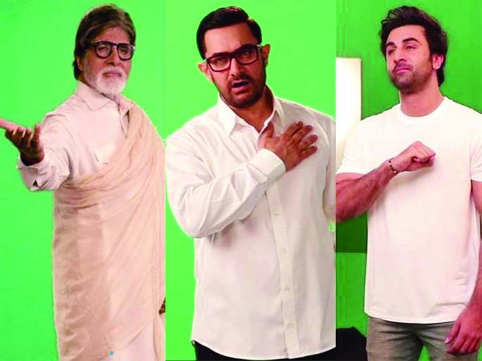 Amitabh, Aamir, Ranbir Kapoor collaborate for the first time