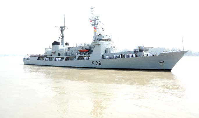 War ship Joy of Bangladesh Navy returned from  Lankan International Maritime and Aerospace Exhibition at Malaysia yesterday.