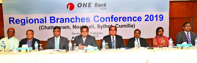 Sayeed H Chowdhury, Chairman of ONE Bank Limited, attended its Regional Branches Conference-2019 at a hotel in Chattogram on Saturday. Zahur Ullah, EC Chairman, Kazi Rukunuddin Ahmed,  Syed Nurul Amin, Directors, M Fakhrul Alam, Managing Director, Chattogram, Noakhali, Sylhet and Cumilla area branch managers' and other high officials of the Bank were also present.