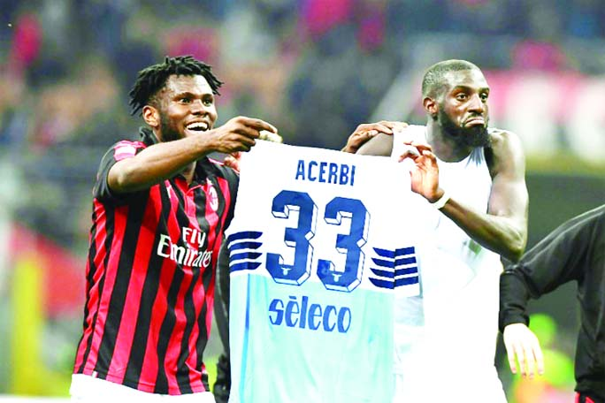 AC Milan fined 86,000 euros for Kessie, Bakayoko shirt prank