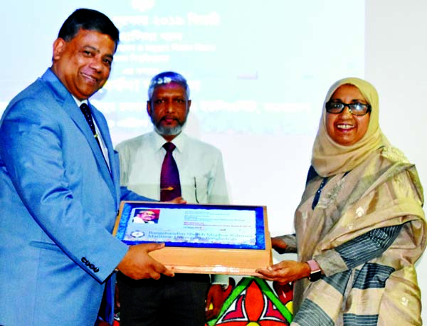 BSMRMU awards Dr Hasina Khan