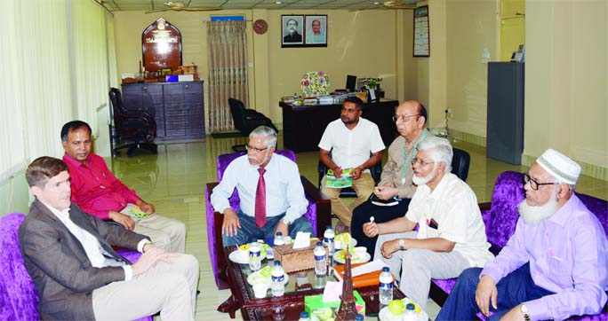 MYMENSINGH: US Ambassador to Bangladesh Earl R. Miller called on Pro- Vice Chancellor of Bangladesh Agriculture University(BAU) Prof Dr. Md. Jashimuddin Khan, faculty members and officials of BAU at Pro -Vice Chancellor office during his visit at BAU on Tuesday.